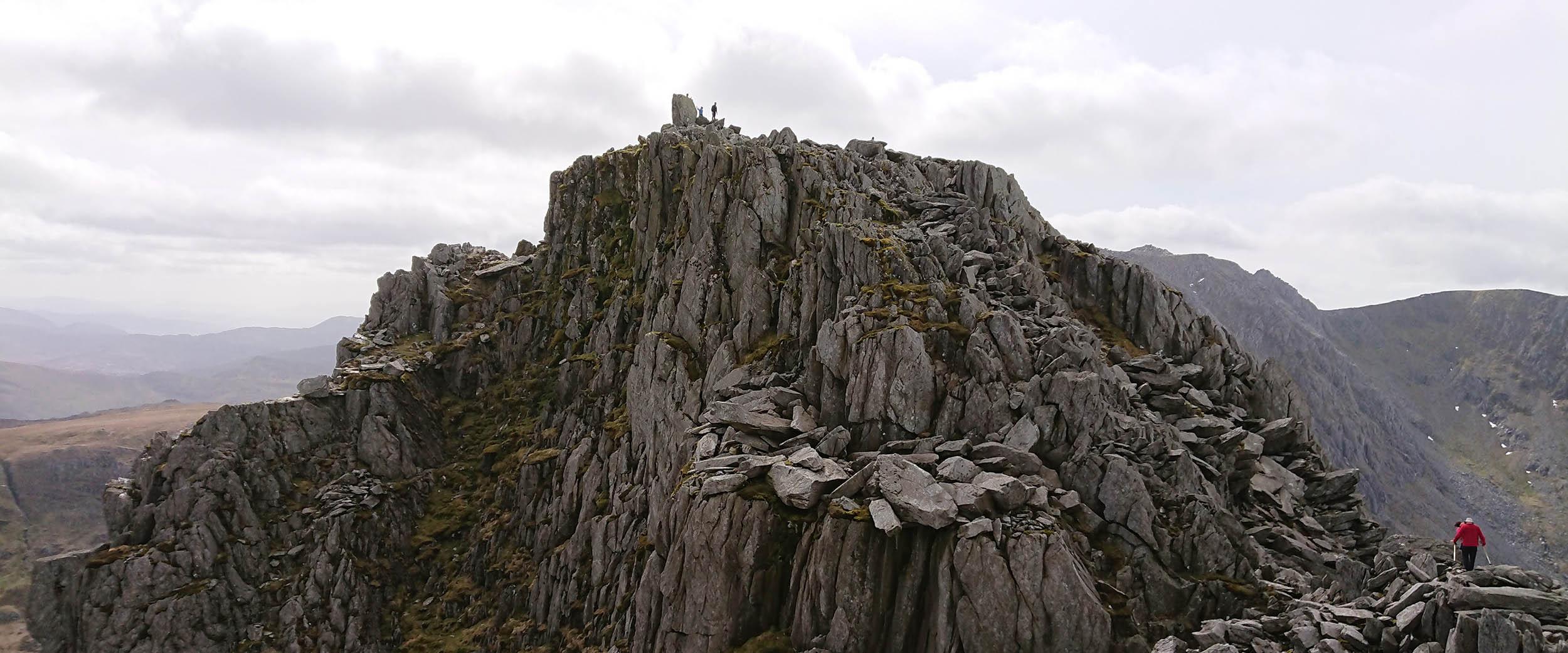 Looking towards the summit of Tryfan